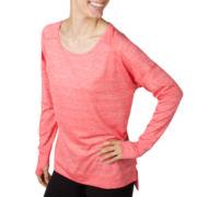 Jockey® Long-Sleeve Shimmer Jersey Tunic
