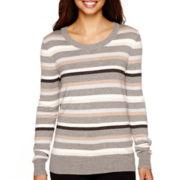 Worthington® Long Sleeve Crewneck Sweater