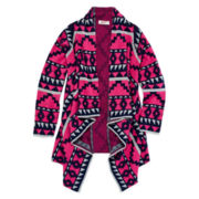 Arizona Tribal-Print Cardigan - Girls 7-16 and Plus