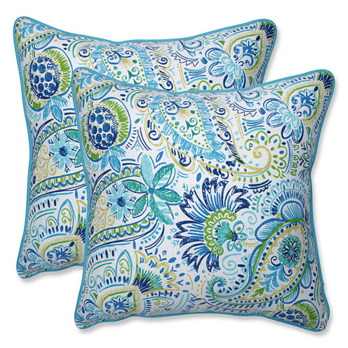 Pillow Perfect Gilford Square Outdoor Pillow - Setof 2