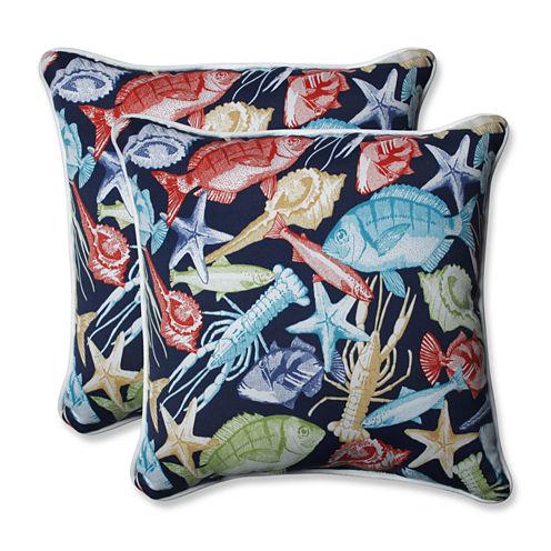 Pillow Perfect Keyisle Square Outdoor Pillow - Setof 2
