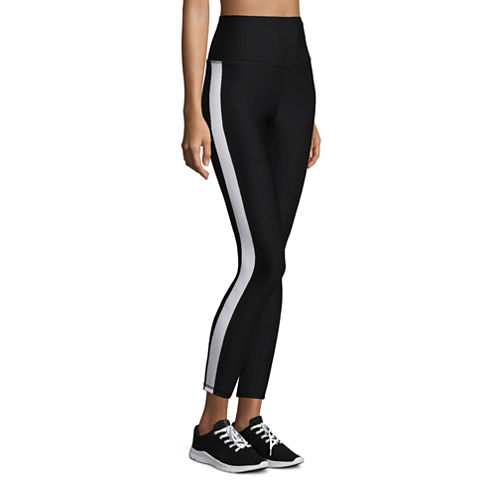Xersion High Rise 7/8 Side Stripe Workout Leggings