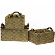3-Piece Seagrass Storage Baskets Set