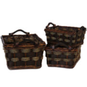 Baum-Essex 3-pc. Willow/Seagrass Storage Basket Set