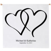 Heart Design Personalized Wedding Banner