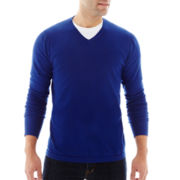 JF J. Ferrar® V-neck Solid Sweater