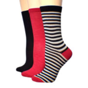 Mixit™ 3-pk. Crew Socks