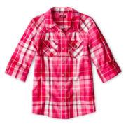 Arizona Woven Long-Sleeve Shirt - Girls 6-16