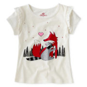 Okie Dokie® Ruffle Graphic Tee - Girls 2t-6