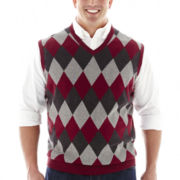 IZOD® Fine–Gauge Argyle Sweater Vest–Big & Tall