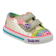 Skechers® Twinkle Toes Shuffles Sweet Steps Girls Sneakers - Toddler