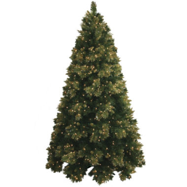 jcpenney.com | Pre-Lit Glitter-Tipped Golden Pine Christmas Tree