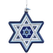Noble Gems New Hanukkah Star Ornament