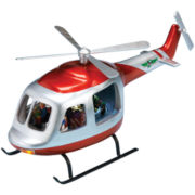 Musical Santa in Helicopter Figurine