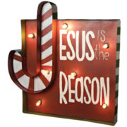 Jesus is the Reason Metal Yard Art