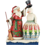 Jim Shore Heartwood Creek® Santa Building Snowman Figurine