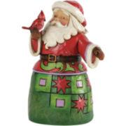 Jim Shore Heartwood Creek® Santa with Cardinal Figurine