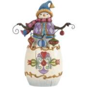 Jim Shore Heartwood Creek® Snowman with Ornaments Figurine