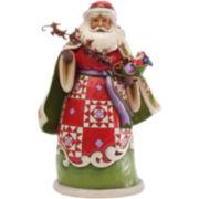 Jim Shore Heartwood Creek® Santa Holding Sleigh Figurine