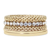 Mixit™ Gold-Tone Rhinestone Mixed 5-pc. Bangle Bracelet Set