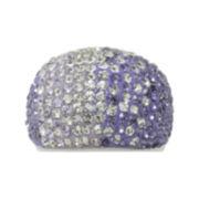 Purple Crystal Ombré Ring