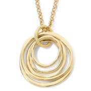 Liz Claiborne® Gold-Tone Multi-Ring Pendant  Necklace