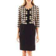 Studio 1® Sheath Dress with Houndstooth Jacket