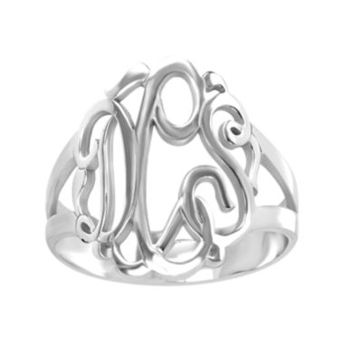jcpenney.com | Personalized Sterling Silver Monogram Ring