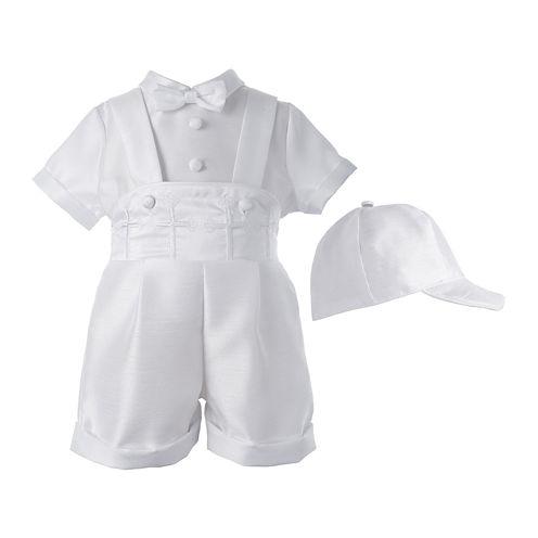 Keepsake® Christening 3-pc. Shirt, Shorts and Cap Set - Boys newborn-12m