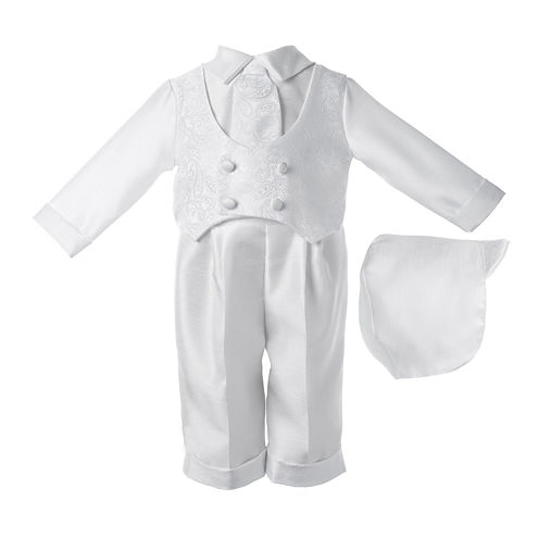 Keepsake® 3-pc. Christening Hat, Shirt and Pants Set - Boys newborn-12m