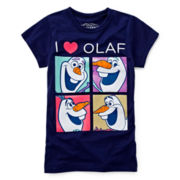 Frozen Four Square Olaf Tee - Girls 7-16
