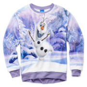 Disney Frozen Olaf Hi-Low Hem Pullover - Girls