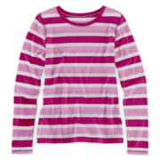 Arizona Long-Sleeve Striped Favorite Tee - Girls 6-16 and Plus