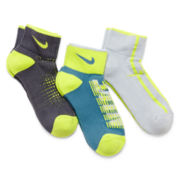 Nike® 3-pk. Quarter Socks – Boys