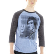 Bruce Lee Peace Raglan Tee