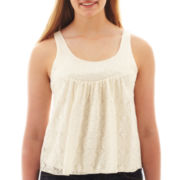 Arizona Sequin Lace Tank Top - Plus