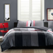 Ink+Ivy Blake Plaid Mini Duvet Cover Set