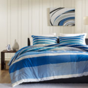 Ink+Ivy Connor Plaid Mini Duvet Cover Set