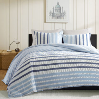 jcpenney.com | INK+IVY Bryant Blue Striped Duvet Cover Set