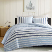 INK+IVY Sutton Blue Striped Duvet Cover Set