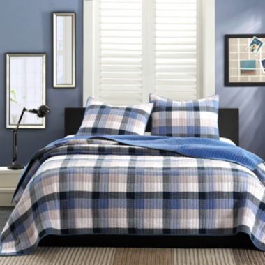 jcpenney.com | INK+IVY Maddox Blue Plaid Quilt Set