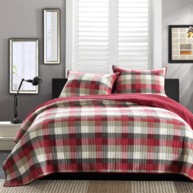 jcpenney.com | INK+IVY Maddox Red Plaid Quilt Set