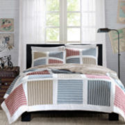 INK+IVY Dylan Colorblock Quilt Set