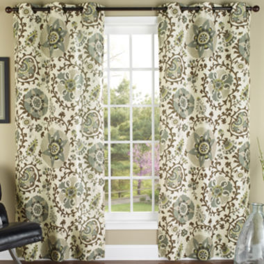jcpenney.com | Medallions 2-Pack Grommet-Top Curtain Panels