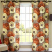 Poppies Grommet-Top Curtain Panel Pair