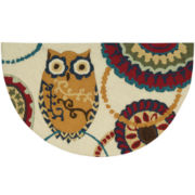 Nourison® Washable Owl Wedge Rug