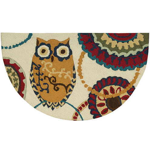 Nourison® Washable Owl Wedge Rug