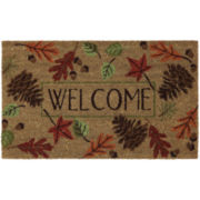JCPenney Home™ Welcome Leaves Coir Doormat