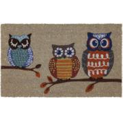 JCPenney Home™ Owls Coir Doormat