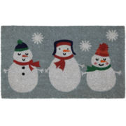 North Pole Trading Co. Snowmen Coir Doormat